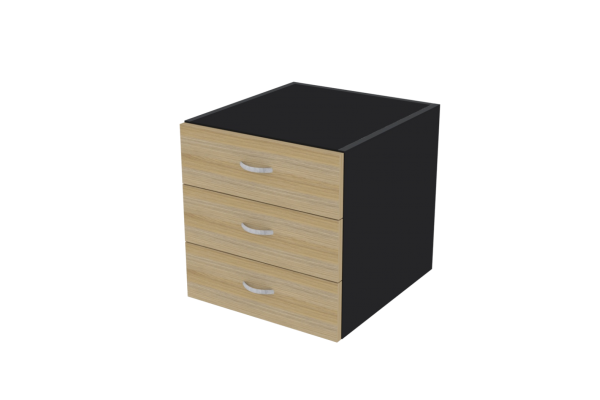 Fixed Pedestal 3 Drawer